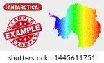 spectral dot antarctica... | Shutterstock .eps vector #1445611751