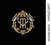 initial letter v and m  vm  mv  ...   Shutterstock .eps vector #1445621897