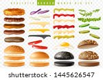burgers maker set. realistic... | Shutterstock .eps vector #1445626547