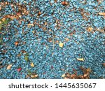 blue small hard stones. nature... | Shutterstock . vector #1445635067