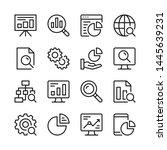 data analysis line icons set....   Shutterstock .eps vector #1445639231