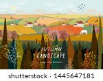 vector illustration of a rural... | Shutterstock .eps vector #1445647181