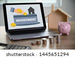 investment fund finance... | Shutterstock . vector #1445651294