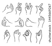 sets of sign language theme... | Shutterstock .eps vector #1445669267