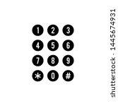 telephone number icon design...