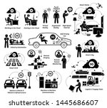 examples of 5g usages with... | Shutterstock .eps vector #1445686607