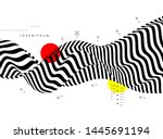 black and white background with ... | Shutterstock .eps vector #1445691194
