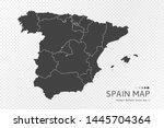 black silhouette of spain map...   Shutterstock .eps vector #1445704364