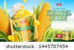 premium kernel corn can ads in... | Shutterstock .eps vector #1445707454