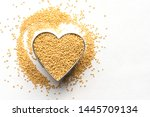 Amaranth Grain In A Heart Shape
