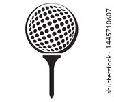 golf ball on tee vector graphic ... | Shutterstock .eps vector #1445710607