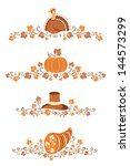 abstract,autumn,beige,border,brown,celebration,decor,decoration,decorative,design,divider,element,fall,festive,hat