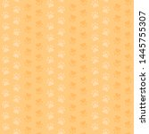 yellow paw prints. vector... | Shutterstock .eps vector #1445755307
