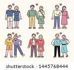 boyfriend and girlfriend are... | Shutterstock .eps vector #1445768444