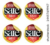 gold sale stickers with red... | Shutterstock .eps vector #1445769947