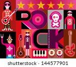 musical collage   pop art... | Shutterstock .eps vector #144577901