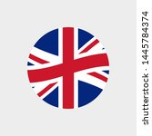 uk or british circle flag icon. ... | Shutterstock .eps vector #1445784374