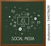 vector illustration of social... | Shutterstock .eps vector #144578639