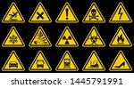 caution signs  danger ... | Shutterstock .eps vector #1445791991