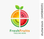 logo design of organic fresh... | Shutterstock .eps vector #1445840351