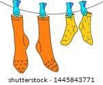 clean hanging sock wash ...   Shutterstock .eps vector #1445843771