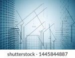 contemporary digital... | Shutterstock . vector #1445844887