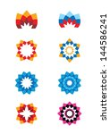 Set Of Flower Abstract Logos....