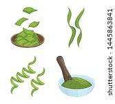 vector design of spirulina and... | Shutterstock .eps vector #1445863841