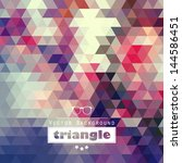 triangle vector background | Shutterstock .eps vector #144586451
