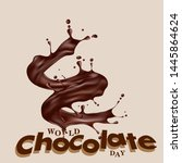 chocolate day vector hand drawn ...   Shutterstock .eps vector #1445864624