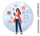 social network. online... | Shutterstock .eps vector #1445894051