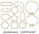 brown rope frame set. vector... | Shutterstock .eps vector #1445916467