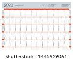wall calendar yearly planner... | Shutterstock .eps vector #1445929061