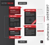 vertical timeline template.... | Shutterstock .eps vector #144593597