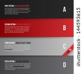 vector layout with four banners ... | Shutterstock .eps vector #144593615