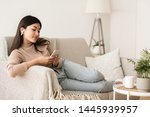 time to relax. asian girl in...   Shutterstock . vector #1445939957