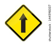 one way traffic   traffic sign... | Shutterstock . vector #144598337