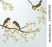 birds | Shutterstock .eps vector #144598535