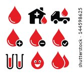 blood donation vector icons set