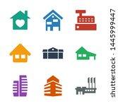 9 residential icons. trendy... | Shutterstock .eps vector #1445999447