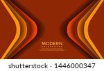 orange vector background... | Shutterstock .eps vector #1446000347