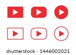red play icon set. multimedia... | Shutterstock .eps vector #1446002021