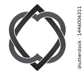 vector tattoo two black... | Shutterstock .eps vector #1446006311