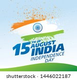 independence day of india.... | Shutterstock .eps vector #1446022187