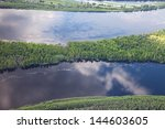 aerial view forest rive in... | Shutterstock . vector #144603605