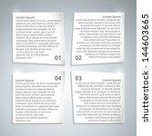 infographic paper design... | Shutterstock .eps vector #144603665