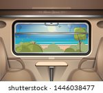 sea  beach and green spaces... | Shutterstock .eps vector #1446038477
