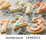 Number Shortbread Biscuits Wit...