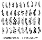 hand drawn tree branches and... | Shutterstock .eps vector #1446056294
