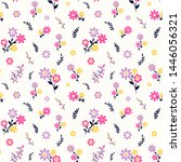 floral seamless pattern with... | Shutterstock .eps vector #1446056321